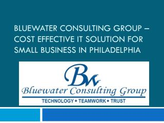 Bluewater Consulting Group – Cost Effective IT solution for small business in Philadelphia