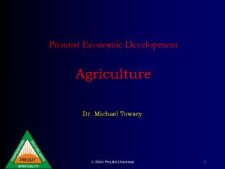 Proutist Economic Development   Agriculture