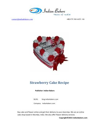 Easy Strawberry Cake Recipe with Fresh Strawberries