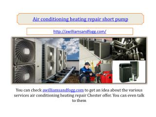 air conditioning heating repair short pump