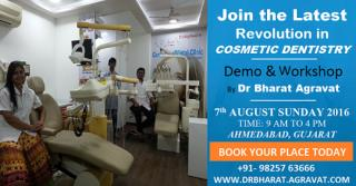 One Day Cosmetic Dentistry Certificate Courses in Ahmedabad Gujarat India by Cosmetic Dentist Bharat Agravat