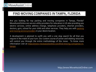 Find Best Moving Companies in Tampa, Florida