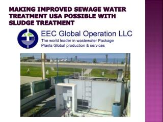 Sludge Treatment for Sewage