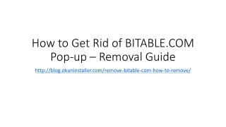 How to Get Rid of BITABLE.COM Pop-up – Removal Guide