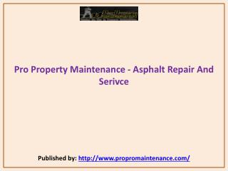 Asphalt Repair And Serivce