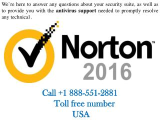 Norton Antivirus Tech Support | 888.551.2881