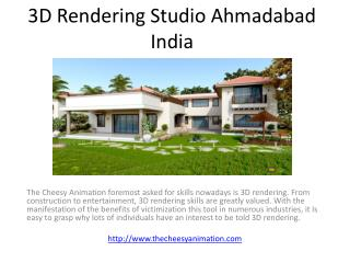 3D Rendering Studio Ahmadabad India