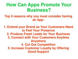 how can apps promote your business