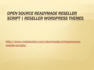 Open Source Readymade Reseller Script | Reseller Wordpress Themes