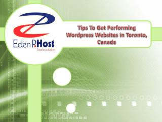 Tips To Get Performing Wordpress Websites in Toronto, Canada