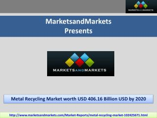 Metal Recycling Market by Metal Type, & Scrap Type - 2020 | MarketsandMarkets