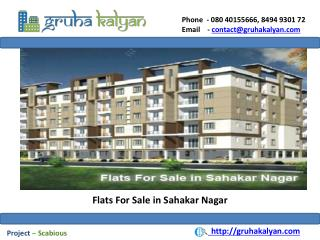 Flats For Sale in Sahakar Nagar
