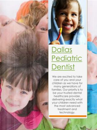 Dallas Pediatric Dentist