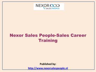 Sales Career Training