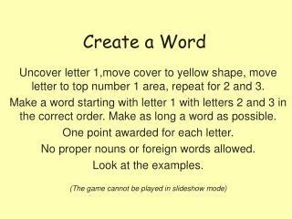 Create a Word