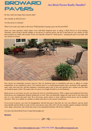 Are Brick Pavers Really Durable