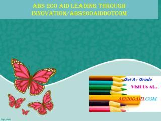 ABS 200 AID Leading through innovation/abs200aiddotcom