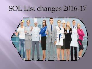 SOL List changes 2016-17