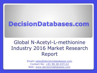 Global N-Acetyl-L-Methionine Industry Share and 2021 Forecasts Analysis
