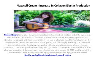Nexacell Cream - Restore skin firmness and Elasticity