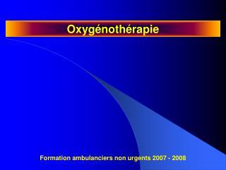 Oxyg noth rapie