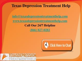 Texas Depression Treatment Helpline