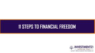 11 STEPS TO FINANCIAL FREEDOM