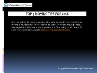 Best Moving Tips for 2016