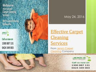 Effective Carpet Cleaning Service From Jena's Carpet Cleaning Company