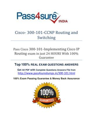 Pass4sure 300-101 Study Guide
