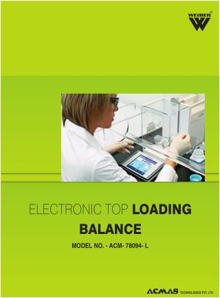Electronic Top Loading Balance