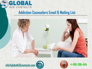 Addiction Counselors Email & Mailing List