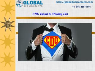 CDO Email & Mailing List