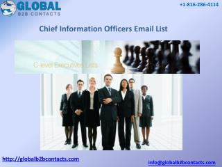 Chief Information Officers Email List