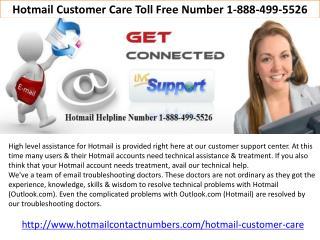 Hotmail Customer Care Toll Free Number 1-888-499-5526
