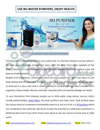 Enjoy Health: Choose Best Water Purifier For Home