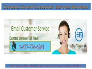 Contact gmail customer care service 1 877 776 6261