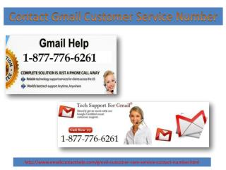Contact gmail customer care service 1 877 776 6261 usa