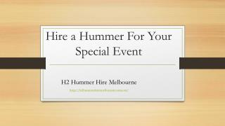 Hire a Hummer For Your Special Event