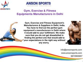 Gym, Exercise & Fitness Equipments Manufacturers in Delhi