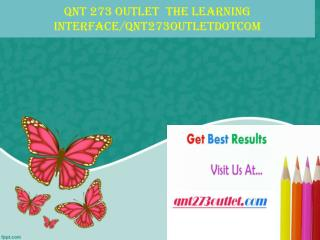 QNT 273 OUTLET  The learning interface/qnt273outletdotcom