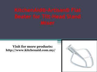 KitchenAid® Burnished Flat Beater -Fits the K5, KP50, KSM5, KSM50