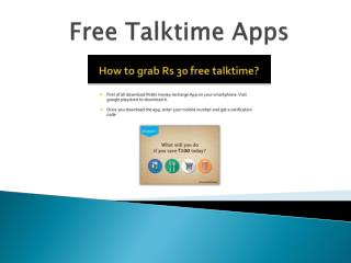 Free Talktime Apps