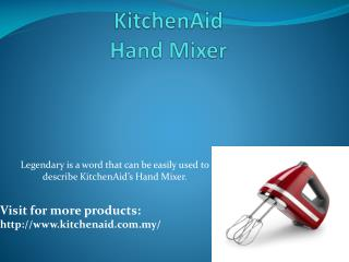 KitchenAid® 7 speed Hand Mixer