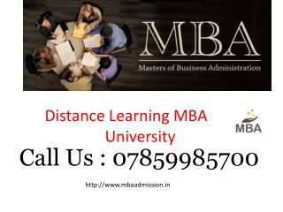 Get Admission Distance MBA Program 2016-2017