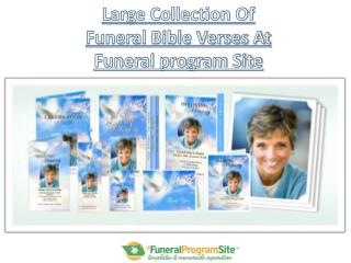 Large Collection Of Funeral Bible Verses At Funeral program Site