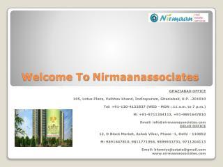 2/3 bhk flats in Delhi/NCR - Nirmaanassociates.com