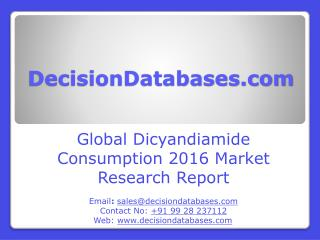 Worldwide Dicyandiamide Consumption Industry- Size, Share and Market Forecasts 2021
