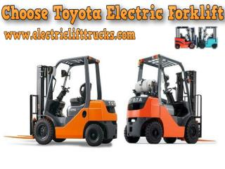 Choose Toyota Electric Forklift