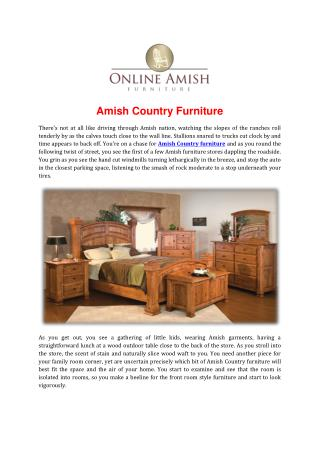 Amish Country Furniture